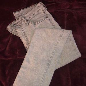 Men's white Levi jeans